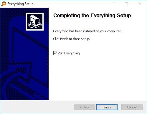 Everything Installer Finish