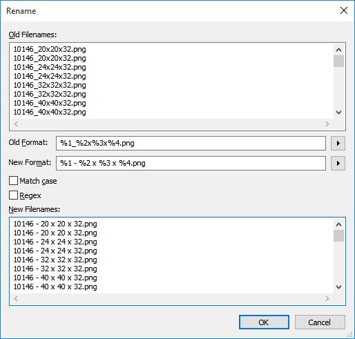 Everything Multi-file Rename Screenshot