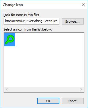 Change icon green icon